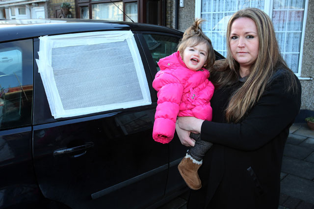 Distraught Nicola Millar accidentally locked her daughter Viole in her car - AA refused to help