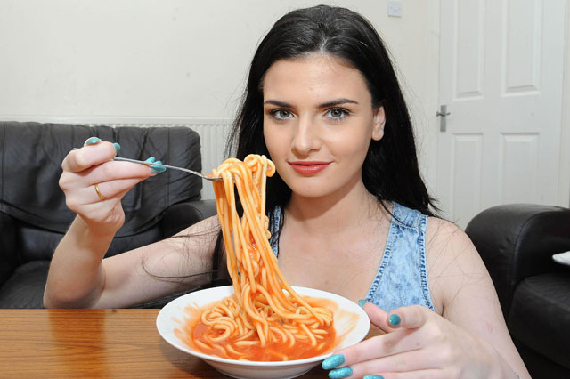 Leah Frost will only eat spaghetti, bread and cheese
