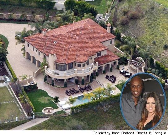 Lamar Odom, Khloe Kardashian home