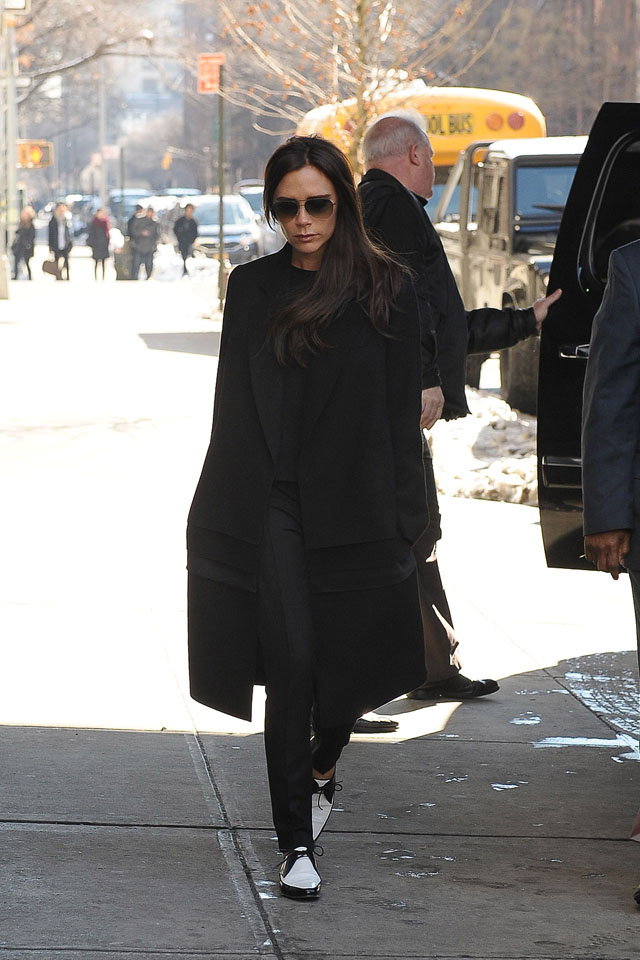 NEW YORK, NY - FEBRUARY 11:  Victoria Beckham is seen on February 11, 2014 in New York City.  (Photo by NCP/Star Max/GC Images)