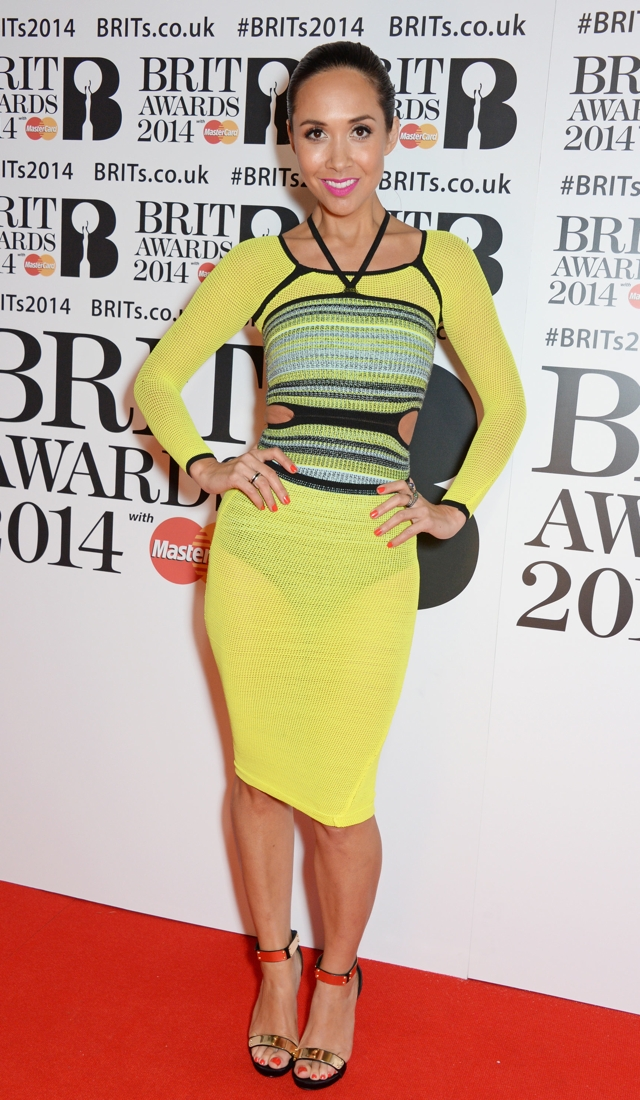 myleene-klass-see-through-yellow-dress-brits-2014