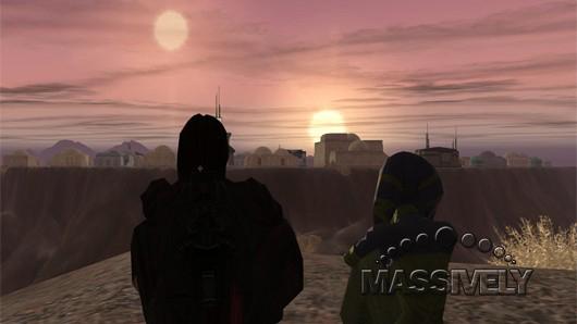 Star Wars: Galaxies binary sunset