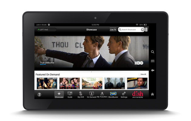 Dish Anywhere app on an Amazon Kindle Fire HDX