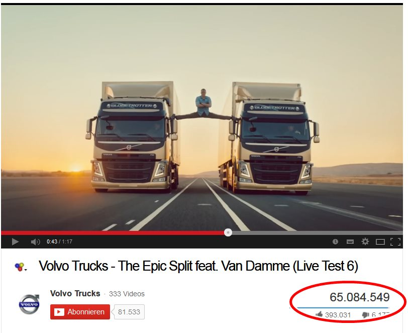 ad, commercial, cool, epic split, featured, Film, funny, Movie, Promi, spagat, star, Trick, Trucks, TV spot, TV-Spot. Action, van damme, Vip, Volvo, Volvo trucks, witzig, spagat