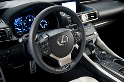 Lexus RC F interior - steering wheel closeup