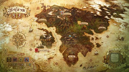 Map of Eorzea