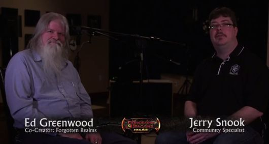 Screencap -- Ed Greenwood DDO interview video