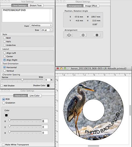 CD/DVD Print Dialogs