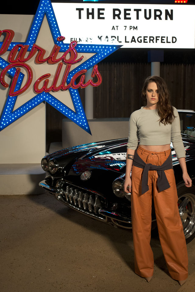 DALLAS, TX - DECEMBER 10: Kristen Stewart arrives for the Chanel