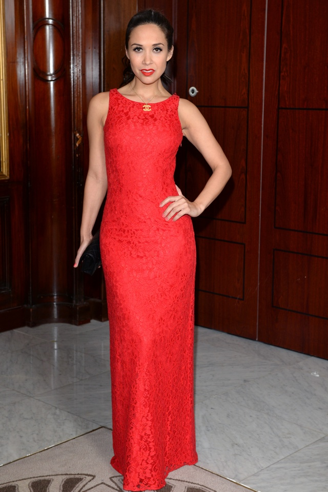 myleene-klass-red-dress-gay-lesbian-switchboard-birthday