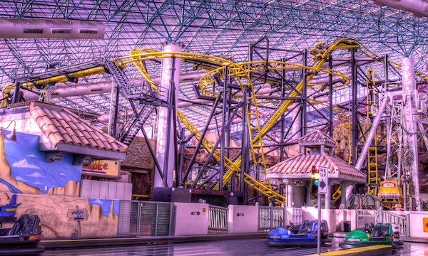 El Loco roller coaster at Circus Circus's Adventuredome in Las Vegas, Nevada