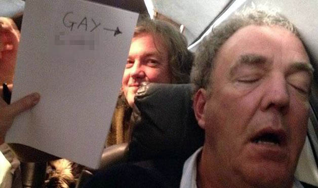 Jeremy Clarkson's controversial sleeping photo