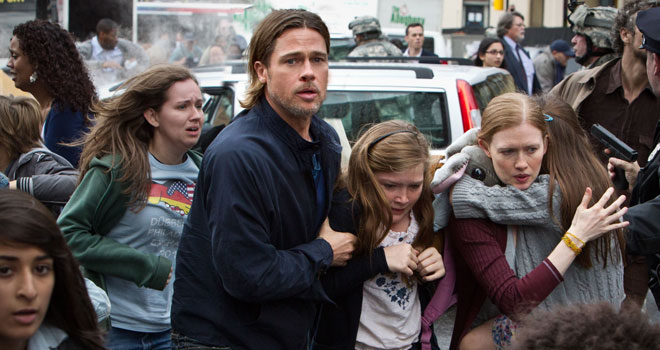 Brad Pitt in 'World War Z'