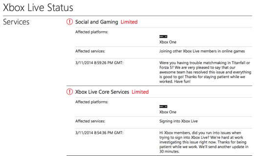 Xbox Live currently experiencing 'limited' operation