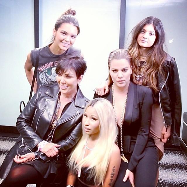 Kendall Jenner, Kris Jenner, Nicki Minaj, Khloe Kardashian, Kylie Jenner