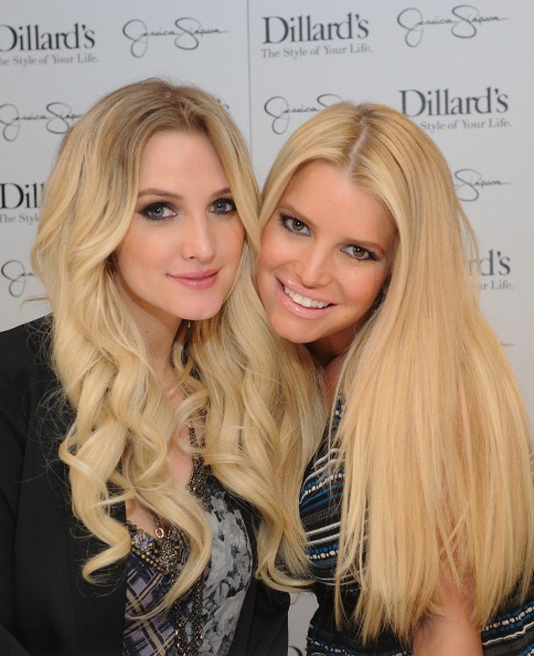 DALLAS, TX - NOVEMBER 23: (EXCLUSIVE COVERAGE) Ashlee Simpson and Jessica Simpson, both wearing Jessica Simpson Collection, attend a Jessica Simpson Collection event at Dillard's on November 23, 2013 in Dallas, Texas.  (Photo by Jamie McCarthy/Getty Images for Jessica Simpson Collection)