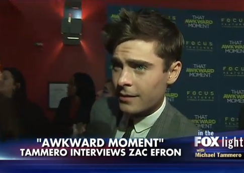 Zac Efron WTF reaction Fox News interview