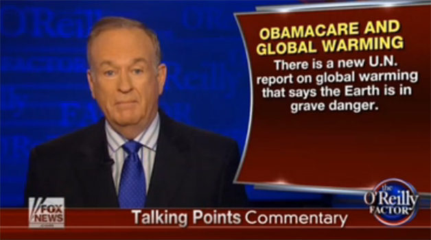 Screencap of Bill O'Reilly delivering a Talking Points Commentary