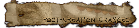 Post-creation changes