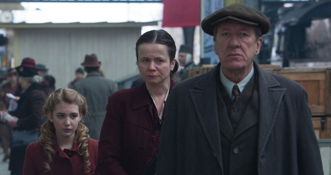 Emily Watson and Geoffrey Rush in 'The Book Thief'