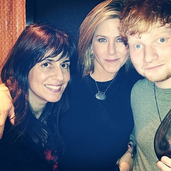 Ed Sheeran and Jennifer Aniston