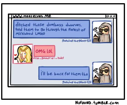 Gandalf browsing macbook pro