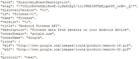 Android Fitness API code leak