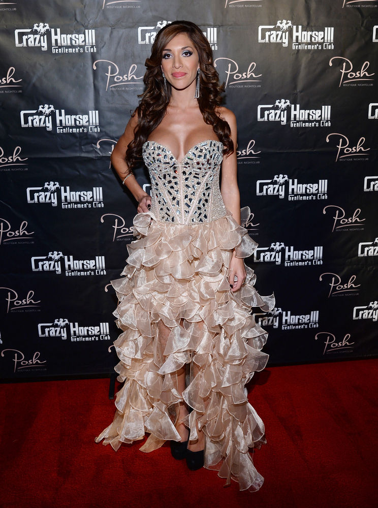 LAS VEGAS, NV - AUGUST 20:  Television personality Farrah Abraham arrives at the Crazy Horse III Gentlemen's Club to host the 2013 Gentlemen's Club EXPO & Tradeshow kick off party on August 20, 2013 in Las Vegas, Nevada.  (Photo by Ethan Miller/Getty Images)