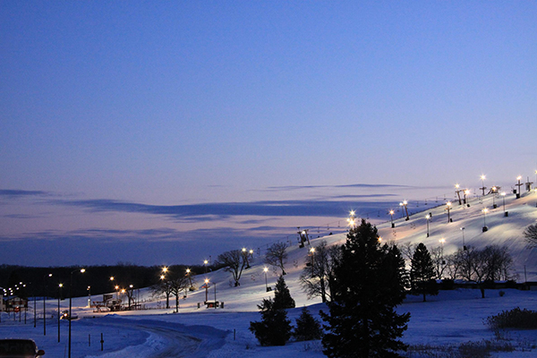 Wilmot Mountain night ski