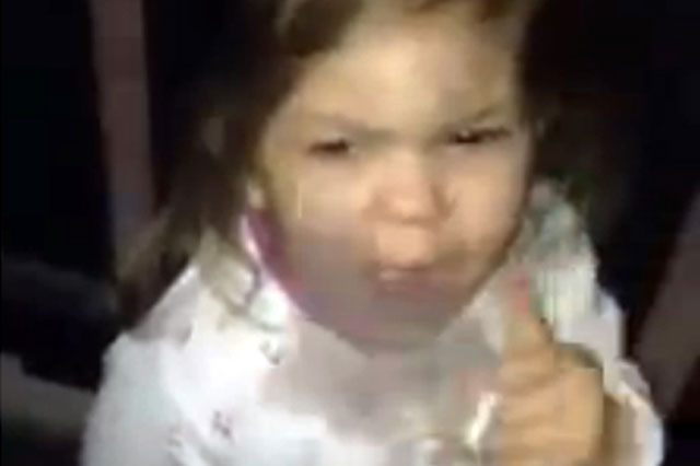 Video shows toddler girl smoking cigarette