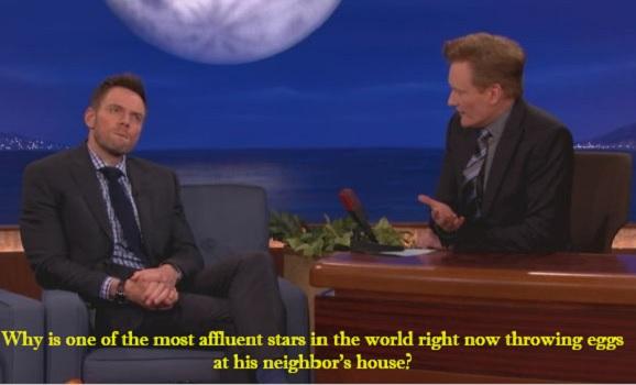 Joel McHale on 'Conan'