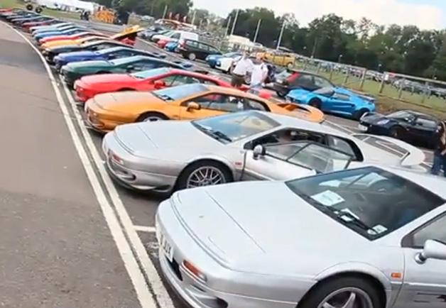 Lotus Esprit lineup
