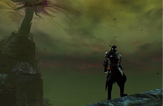 Standing in front of the Nightmare tower