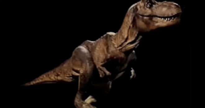 jurassic park stop-motion test footage