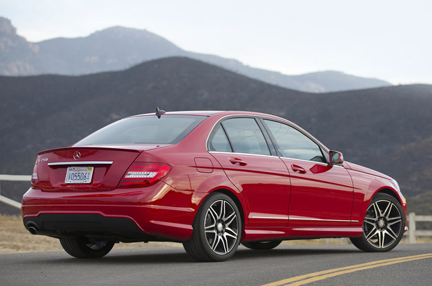 2013 Mercedes-Benz C250 Sport rear 3/4 view