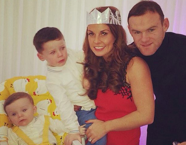 Wayne Rooney and family at Christmas