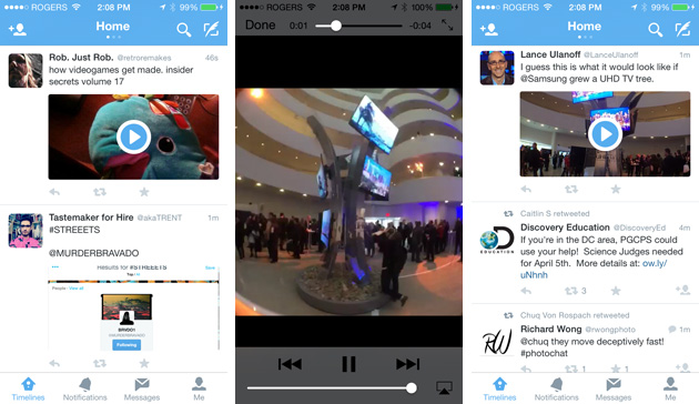 Twitter video previews in iOS