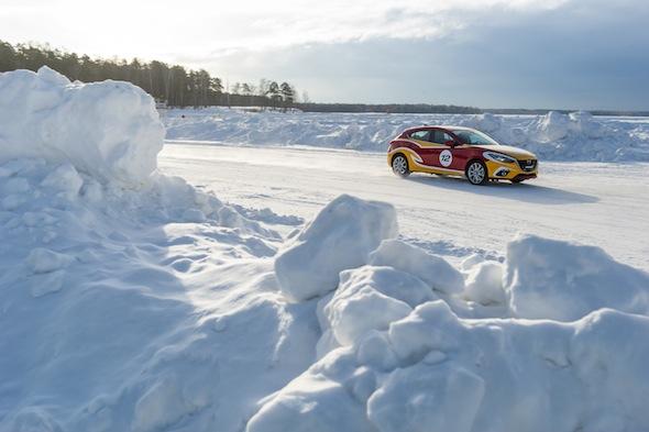 Mazda ice race