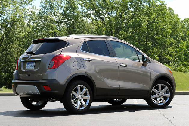 2013 Buick Encore rear 3/4 view