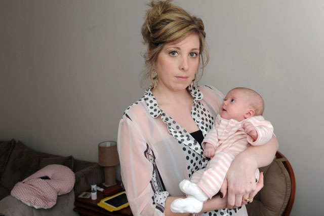Breastfeeding mum Heather Vaughan ordered out of National Museum of the Royal Navy creche and into the toilet