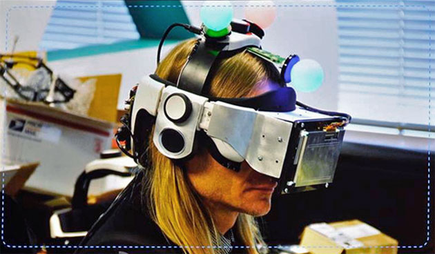 Sony's early VR headset prototypes looked pretty silly