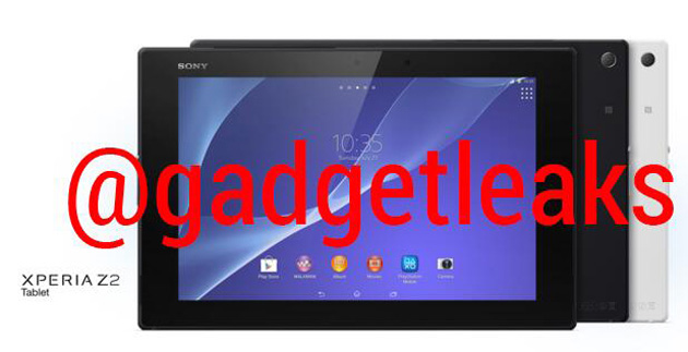 Sony Xperia Tablet Z2 leaked in white