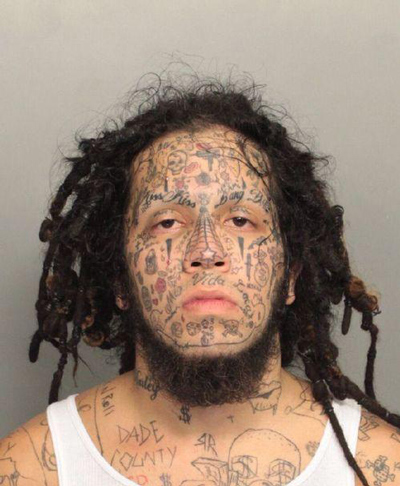 worst face tattoos covered face