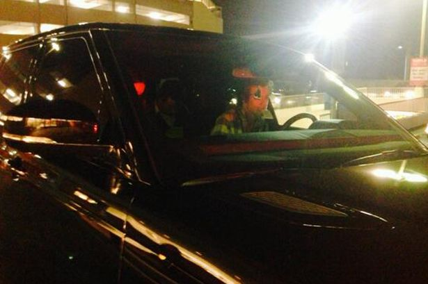 Harry Styles driving Kendall Jenner range rover rite aid date
