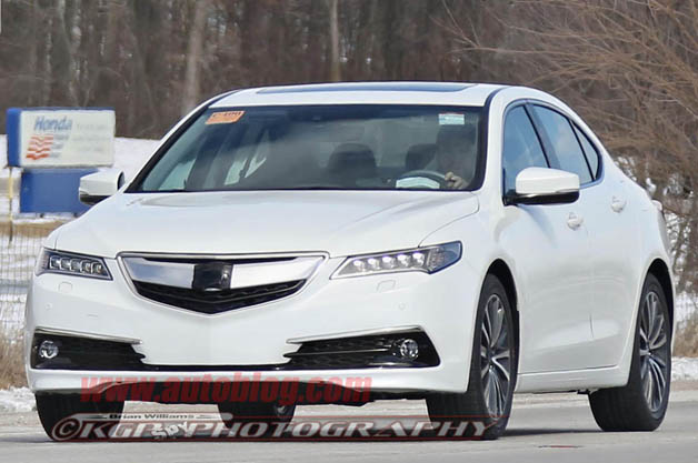 Acura TLX test vehicle