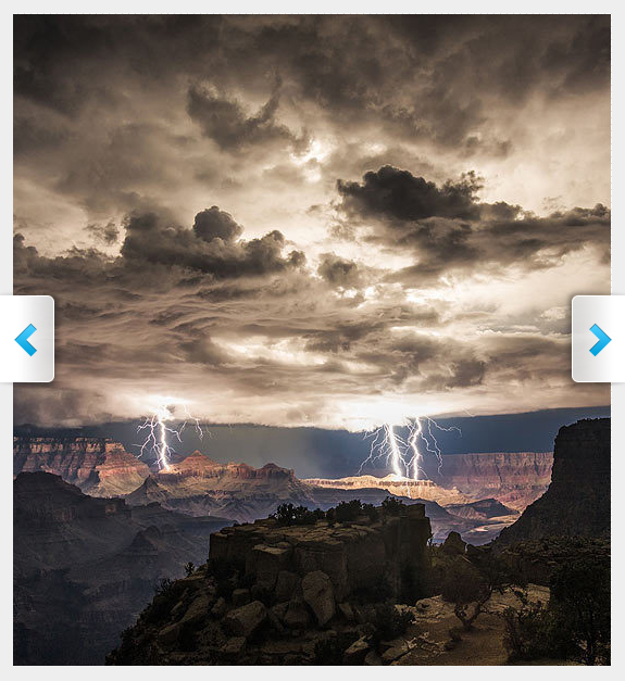 Lightning Hits the Grand Canyon