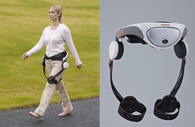 歩行が困難になった人たちのためにホンダが開発中の「歩行アシストマシン」