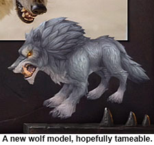 Warlords of Draenor new wolf model