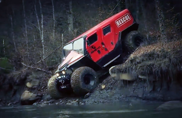 meet romanias awesome offroad fire and rescue truck