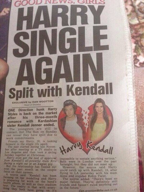 Harry Styles and Kendall Jenner breakup Miley Cyrus concert